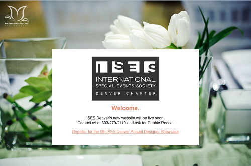 ISES Denver Splash Page screenshot