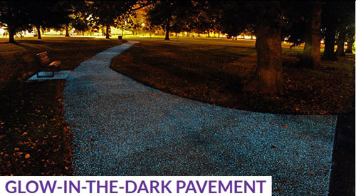 Glow-in-the-dark-pavement